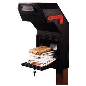 Locking Black Lockable Security Box Large Secure AntiTheft Key Mailbox