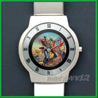 Iron Maiden Rock Band Slim Stainless Steel Watch Wristwatch