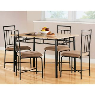 Mainstays 5 Piece PC Dining Room Set Table Chairs 5pc Dinning Dinner