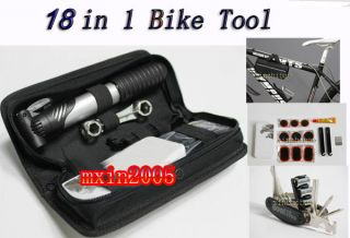 Portable Mountain bike car maintenance tool suite equipment W Inflator