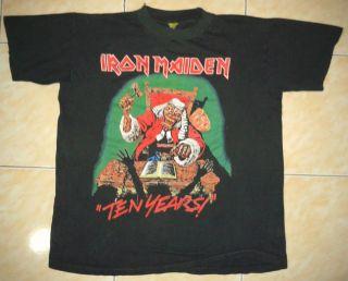 RARE VINTAGE IRON MAIDEN ROCK HEAVY METAL TOUR CONCERT PROMO TEE T