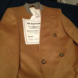 Maison Martin Margiela for H M Mens Camel Coat Sz 38