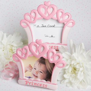 50 Pink Crown Design Photo Place Card Frames Baby Shower Favors