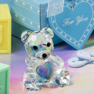 Crystal Teddy Bear Figurine Christening Baby Shower Favors