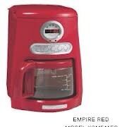 Empire Red Kitchen Aid Coffee Maker