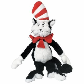 Manhattan Toy Cat in the Hat Dr Seuss Black White Red Stuffed Plush