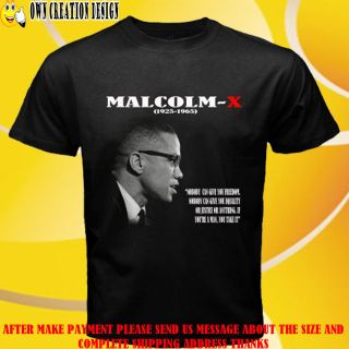New in Memoriam Malcolm x Famous Speeches Fight Like A Man T Shirt