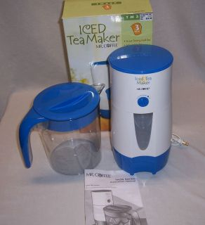 Mr Coffee Iced Tea Maker 3 Quart Complete TM39P