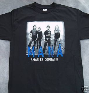 Mana Amar ES Combatir Rock T Shirt s M L XL 2XL Brand New Spanish Rock