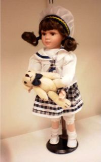 Cathay Collection Porcelain Sailor Girl Doll Teddy Bear