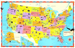 Rand McNally United States USA US Large Wall Map Poster