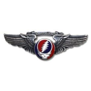 Grateful Dead Rockwings Steal Your Face Pilot Pin