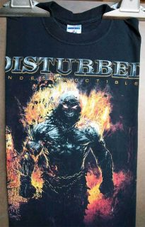 Rock Shirts   1 Disturbed & 1 Iron Maiden