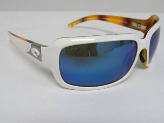 Costa Del Mar 580 Isabela White Tortoise Blue Mirror $250 Polarized