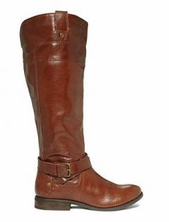 Marc Fisher Womens Shoes Arty Tall Riding Boot Brown Leather 8 5 M NIB