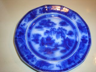 Manilla Podmore and Walker 8 1 2 Flow Blue Plate