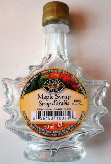 Maple Leaf Shaped Maple Syrup Bottle L P Maple Treat