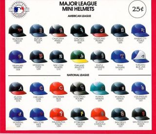 Major League Mini Baseball Helmets Vending Machine Sign