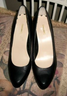 Max Studio Black Leather Marais High Heel Pumps 10M Superb Condition