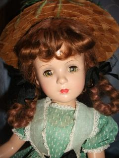 Margaret O Brien 18 Composition Madame Alexander Doll Marked 1940s