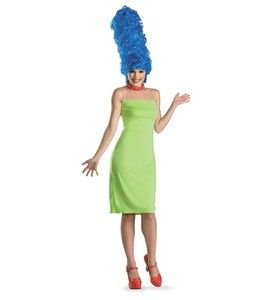 New Marge Simpson w Wig Women Costume Large 12 14 The Simpsons
