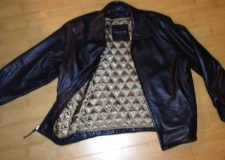 Marc New York Andrew Marc Black Soft Leather Jacket with Gold Lining M
