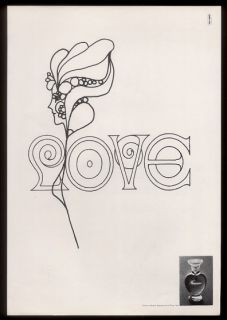 Max Psychedelic Love Art Marcel Rochas Femme Perfume Print Ad