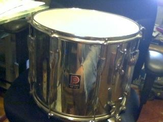 Vintage Premier Chrome Marching Band Parade Snare Drum