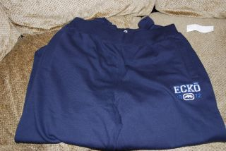 Mens Marc Ecko Unltd Auth Kill The Man Pants Deep Blue Fleece Sweat