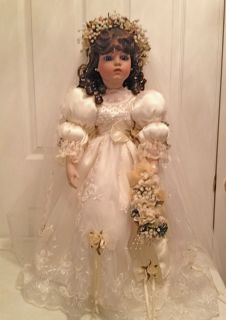 Marcella 27 Porcelain Bride Doll by Patricia Loveless