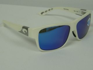 Costa Del Mar Caye White Blue 400 Glass Mirror Polarized Sunglasses