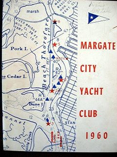 Margate City NJ Yacht Club 1960 Season Sailing Schedule Social