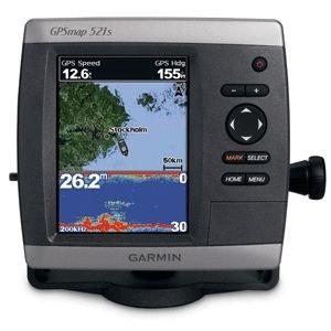 Garmin GPSMAP 521s Marine GPS Fish Finder w Ducer New