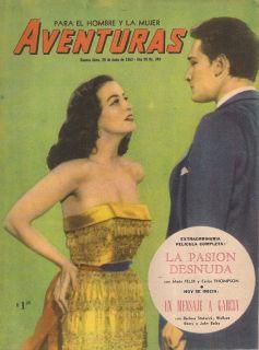 Maria Felix Argentina Magazine Dibujos Aventuras 1953