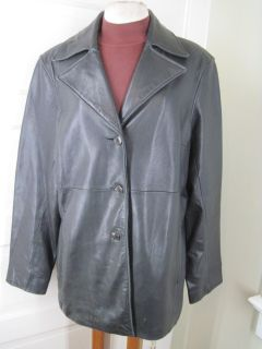 Marc New York Andrew Marc Super Soft Leather Black Jacket XL