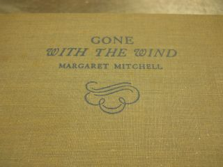 Margaret Mitchell Gone With the Wind 1936 First Edition Second