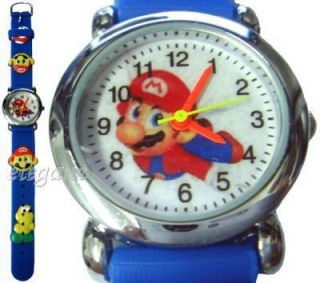 Nintendo Super Mario Brothers 3D Kids Blue Wrist Watch
