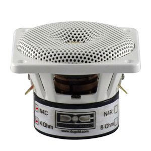 DC Gold 4 Classic Marine Speakers Model N4C White 4 Ohm