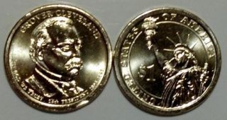 2012 Presidential Dollars Cleveland 2nd Term 5 P 5 D Mint Mark