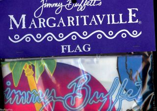 New Jimmy Buffett Margaritaville Logo Keywest Parrothead Palm Flag