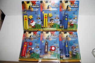 Super Mario Galaxy Phone Charms Spring Mario Bee Fire Boo Mario Wii