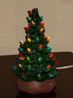 CERAMIC CHRISTMAS TREE 1979 nice 11 tall Marked Scioto Ceramics