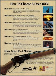 1993 Marlin 30 30 Lever Action Rifle Photo Ad Firearms Advertising