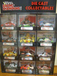 Die Cast Collectibles NASCAR 12 Car Petty Allison Mark Martin