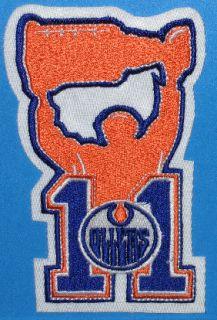 Mark Messier Retirement Night 11 Patch Edmonton Oilers