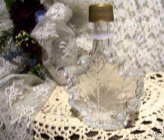 Maple Syrup Glass Bottle Maple Leaf Design