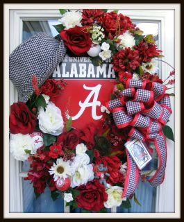Petal Pushers Custom Made Alabama Christmas Holiday Roll Tide Bama