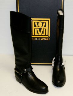NEW Womens Pour La Victoire Marne Black Leather Boot Tall High Riding