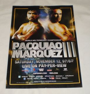 2011 Boxing Pay per View Ad Page Pacquiao Marquez III