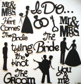 Wedding Love Silhouette Die Cuts